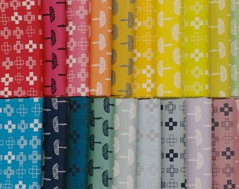 Blueberry Park Rainbow - Fat Quarter Bundle - by Karen Lewis for Robert Kaufman (20 pieces)