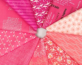 MQ {Stash}builder - PINK - Fat Quarter Bundle - 10 pieces