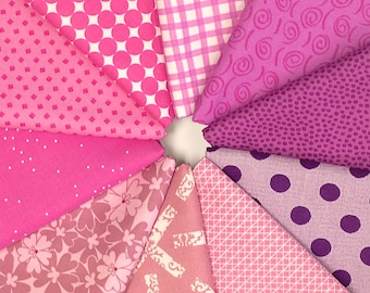 MQ {Stash}builder - PINK/PURPLE - Fat Quarter Bundle - 10 pieces