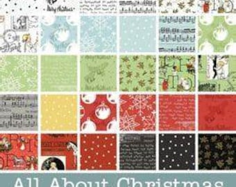 All About Christmas by J. Wecker Fisch for Riley Blake Fat Quarter Bundle 30 Prints
