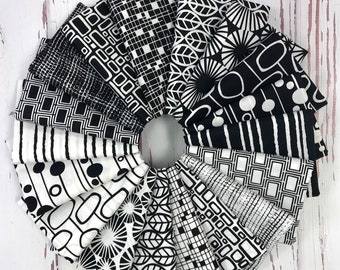 Panda Prints - Kim Schaefer - Fat Quarter Fabric Bundle - 18 prints