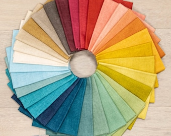 Linen Texture II Fat Quarter Bundle by Edyta Sitar for Andover - 32 Prints On Sale