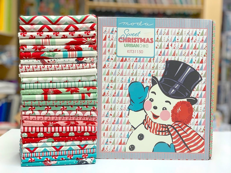 Sweet Christmas Kit finished size 60 x 72 by Urban Chiks for Moda