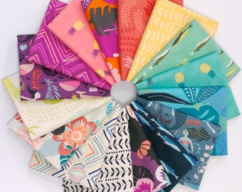 Sirena - Fat Quarter Bundle - by Jessica Swift for Art Gallery Fabrics (16 pieces)