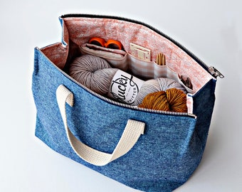 Kit Supply Tote Pattern by Aneela Hoey (Paper Pattern)