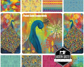 Pizzazz by Sue Penn for Free Spirit Half Yard Bundle - 8 Pieces (Panel Sold Separately)