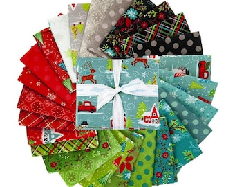 Snowed In Pre-cut Fat Quarter Bundle by Heather Peterson for Riley Blake - 26 Prints