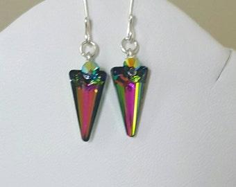Swarovski Vitrail Spike Earrings