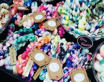 Holiday sock bundle - hand dyed sock yarn super pack