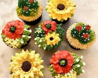 Cactus & Wildflowers Cupcakes