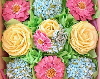 NEW!!!  Spring Cupcakes 9 pc. Gift Box