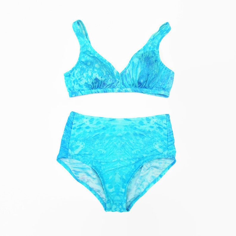 dc2657663e 30% OFF SALE Vintage 1970s Bikini Turquoise Swimsuit | Etsy