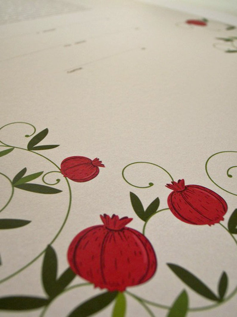 Pomegranates Signature Ketubah