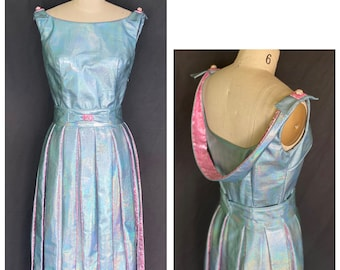 Unicorn Faux-Leather 60s style Streamer Party Dress 2-piece