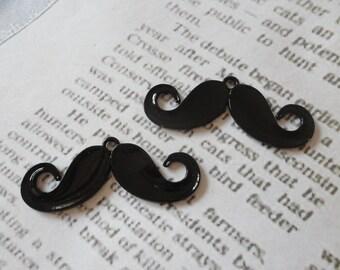 20pcs 20mmx50mm alloy black plated moustache  Retro Pendant Charm For Jewelry Pendant