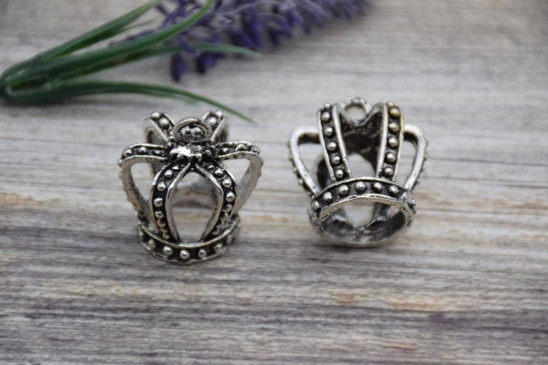 2 Crown Charm 3D Princess Crown Charm Queen Crown Charm Royal Charm Head Crown Charm Pendants Necklace Bracelet Earring 32mm*30mm*30mm CR28