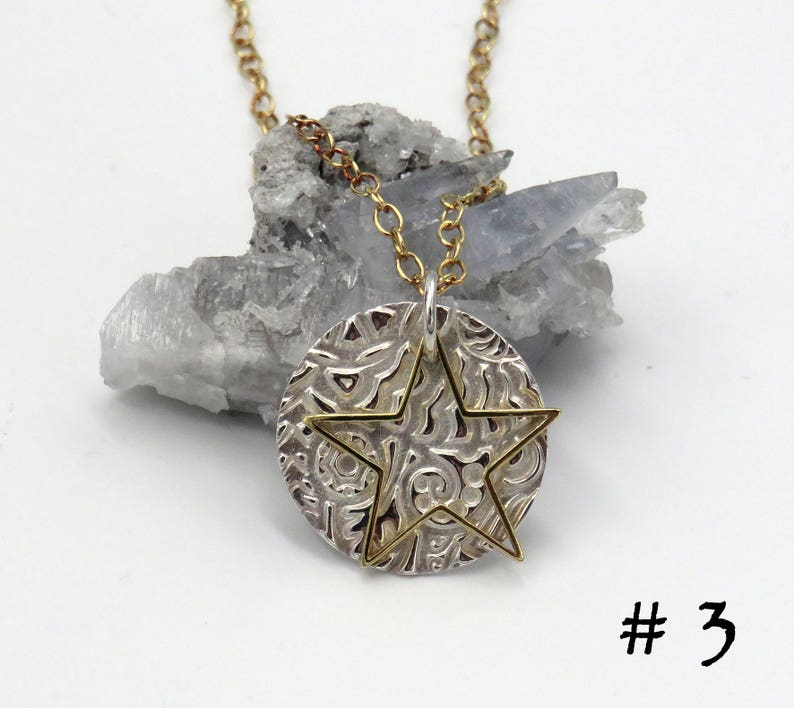 Double-layered silver pendant Star Talers choose from four designs! gold-plated sterling silver fine silver 999