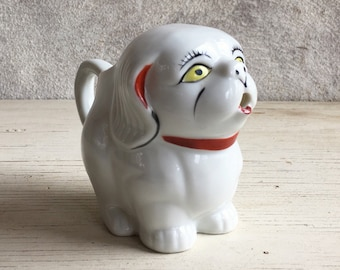 Vintage porcelain collectible dog creamer gift for dog lover