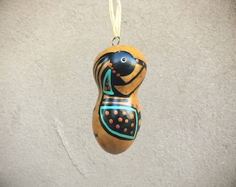 Kokopelli Ornament Native Style Gourd Ornament, Southwestern Christmas Decor