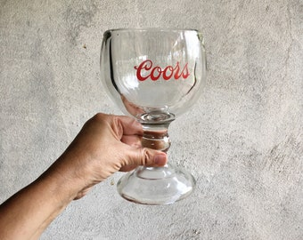 Heavy Duty Beer Goblet Fishbowl Glass Coors Beer Glass, Brony Gift for Man Cave Decor