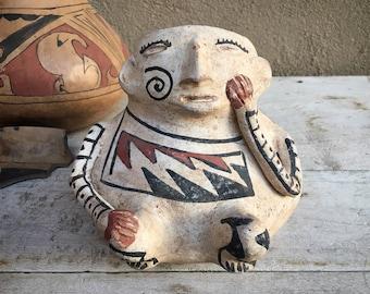 Mata Ortiz Pottery Casas Grandes Polychrome Effigy Pot, Mexican Pottery, Indigenous Arts