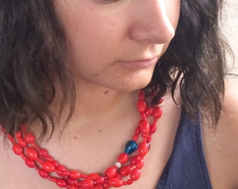 Ecuador Jewelry Antique Trade Bead Necklace, Tribal Jewelry, Bohemian Necklace, Boho Jewelry, Gift for Her, Girlfriend Gifts, Ethnic Jewelry