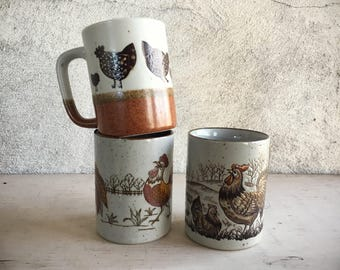 Rooster Kitchen Decor Otagiri Mugs Instant Collection Coffee Cups Rooster Chiken Decor