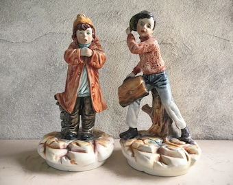 Capodimonte Italian Pottery Ceramic Porcelain Boy Figurine, Boy's Bedroom Decor Gift for Boy