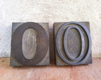 Vintage Letterpress Printing Blocks Letter O, Typography Printer Blocks, Industrial Home Decor, Classroom Decor, Writer Graphic Artist Gift