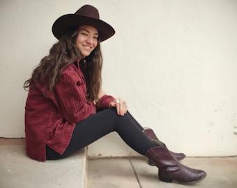 Vintage Cowboy Hat for Men Women Brown Wool Rockmount Ranch Wear Size 7 1/8, Western Hat
