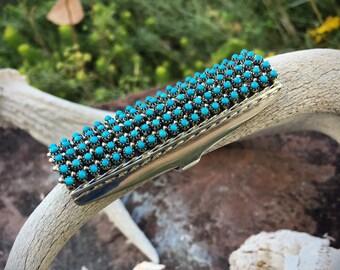 Signed Zuni Jewelry Snake Eye Turquoise Ring, Native American Ring, Turquoise Jewelry, Shield Ring