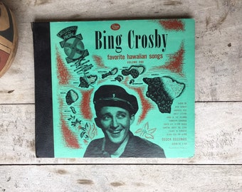 Pair of Bing Crosby 78 RPM Box Sets Going My Way and Favorite Hawaiian Songs by DECCA 1940s