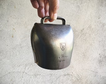 1993 Firmann Swiss Cow Bell 2/0, Barn Salvage Industrial Decor Farmhouse, Old Cowbell Vintage