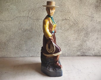 1976 Ezra Brooks Bourbon Dakota Cowgirl Decanter, Western Cabin Decor, Whiskey Lover Gift for Men