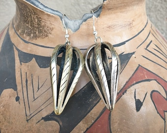 Vintage German Silver Cage Shaped Earrings for Women, Bohemian Style Jewelry, Hot Air Ballon Shape