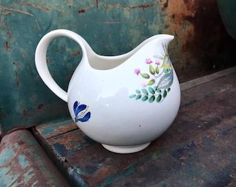 Midcentury Hallcraft Eva Zeisel Bouquet Porcelain Creamer by Hall Pottery USA, 1950s Kitchen Decor