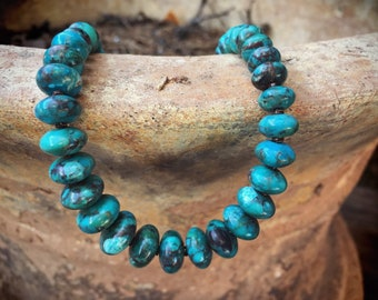 Turquoise Bead Necklace for Women, Santo Domingo Native American Indian Jewelry Southwestern Gifts