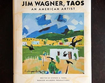 First Edition 1993 Jim Wagner, Taos: An American Artist Art Book, New Mexico Gifts, Taos New Mexico, Book Lover Gifts, Folk Art Lover Gift
