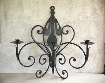 Large Vintage Rustic Candle Sconce Decorative Wall Sconce Candle Holders