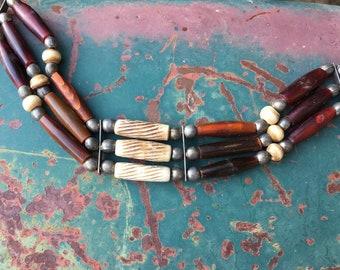 Vintage Tribal Choker for Women, Pow Wow Regalia, Bohemian Jewelry Native American Style