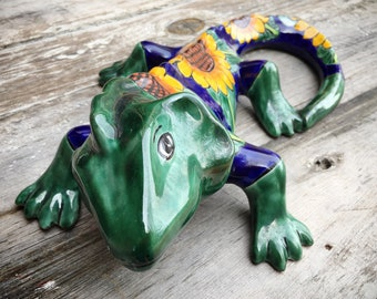 Talavera Bearded Dragon Wall Hanging Southwestern Mexican Decor, Reptile Lizard Lover Gift Beardie