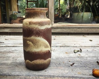 Mid-Century Pottery West Germany Vase 213-20 Scheurich Keramik Vase for Centerpiece Fat Lava