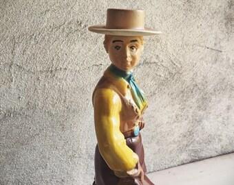1976 Ezra Brooks Bourbon Dakota Cowgirl Decanter, Western Cabin Decor, Whiskey Lover Gift for Men