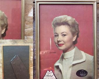 1960s Metalcraft gold picture frame, wedding picture frame, home interior pictures, vintage photo frame, vintage decor, 5 x 7 frame, 8 x 10