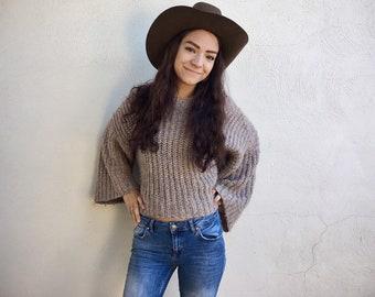 Vintage Cowboy Hat for Men Women Brown Wool Resistol Size 7 3/8, Western Hat for Outdoorsman