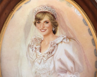 1997 Princess Diana Commemorative Plate The People's Princess Queen of Our Hearts by Bradford Exchange