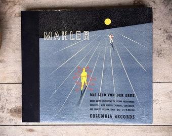 1936 Gustav Mahler Das Lied Von Der Erde 7 LP 78rpm Box Set Bruno Walter Conducting, Opera Music Set