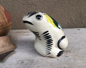 Talavera Toad or Frog Figurine Southwestern Mexican Decor, Patio Decoration, Nature Lover Gift