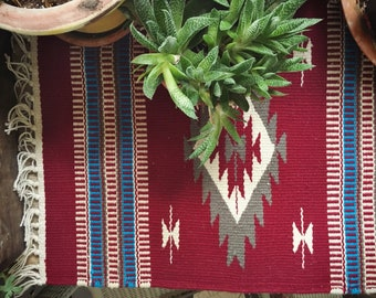 Southwestern Placemat Mexican Decor, Woven Wall Hanging Table Mat, Mexican Wall Art