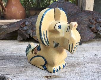 1940s Tonala Pottery Dog Figurine Terrier Dog, Southwestern Kitchen Decor,Mexican Folk Art Tonala Pottery